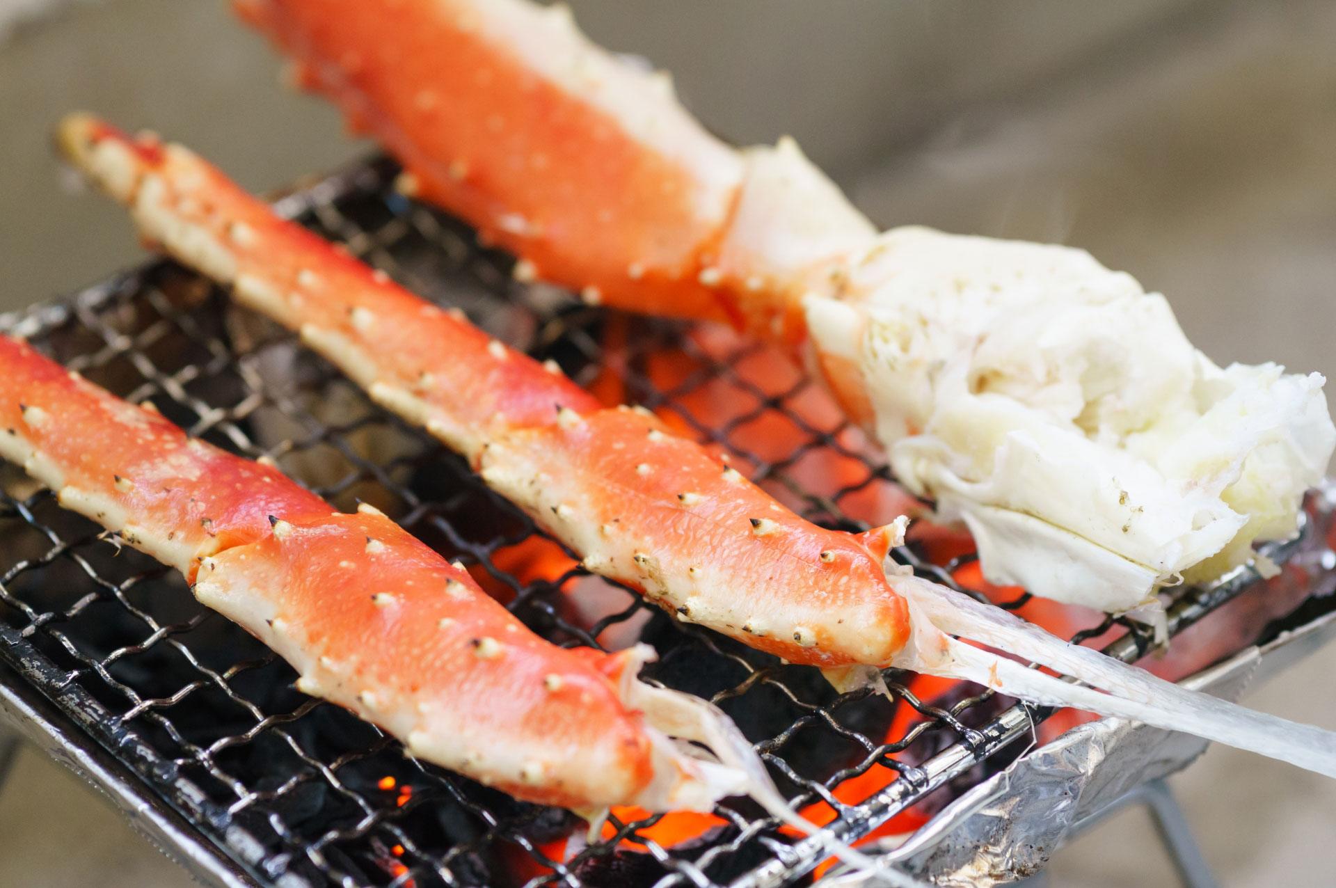 爽やかな秋日和には、家族でかに海鮮バーベキュー!